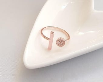 Pink Stone Gold Ring,Pink Stone Ring,Marble Ring,Pink Marble Ring,Geo Marble Ring,Pink Stone Ring,Minimalist Ring,Minimalist Marble Ring