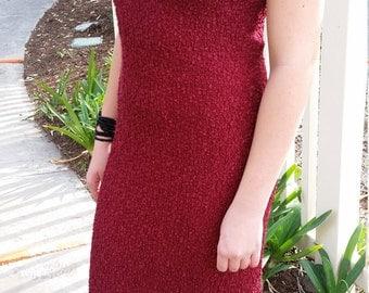 Vintage Red Halter Dress