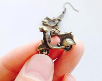 Funky Scooter Earrings-Drop Earrings