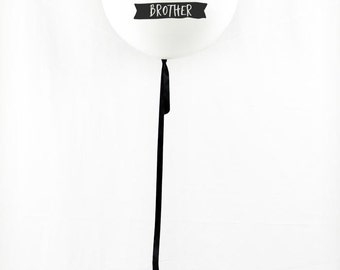 Whimsical | Big Brother Balloon | Pregnancy Announcement Idea | Photo Prop | White