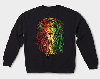 Bob Marley sweatshirt Hippie lion sweater Rasta animal sweatshirt Rasta Bob Marley Jamaica Lion sweatshirt Vintage One love Hoodie GOS015