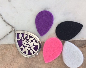 4 Felt Perfume pads, Oil diffuser pads, felt locket pads, replacement felt pads locket felt perfume pads for 'Droplet' shape replacements