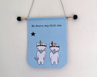 "banner for boy ""be brave my little one"""