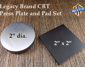 "Coin Ring Tools: Urethane Pad and 2"" Dia Reduction Press Plate"