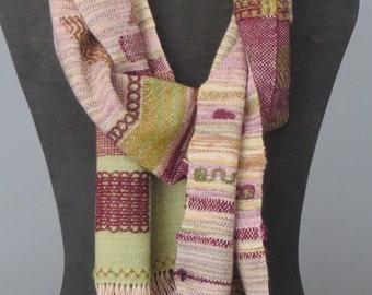Saori Style Handwoven Scarf