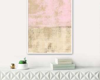 Pale Pink Abstract Art, Printable Modern Art, Instant Download, Contemporary Painting, Extra Large Wall Art, Pink Wall Art, Abstract Art