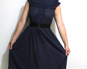 80s Polka Dot Vintage Dress
