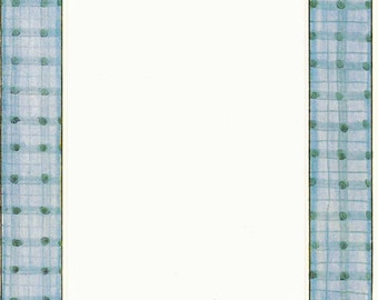 Blue Plaid Cardstock Frame My Mind's Eye Frame Up's Scrapbook  Embellishments Cardmaking Crafts