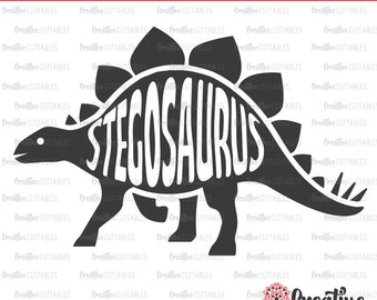 Stegosaurus SVG Digital Cut File