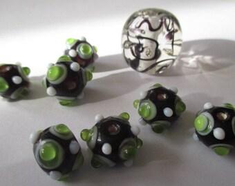Vintage Glass Bumpy Bead Set