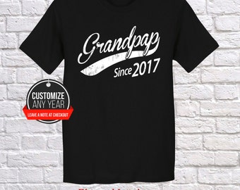 Grandpap since (any year) Grandpap gift , Grandpap birthday , Fathers Day , Grandpap tshirt , Grandpap gift idea , Baby shower, Pregnancy