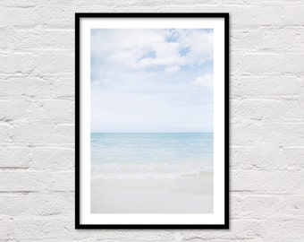 Caribbean Sea Print, Printable Wall Art, Modern Coastal Decor, Blue Ocean Photography, Dominican Republic, Punta Cana, Digital Download