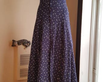 Navy blue calf length summer dress in size xs