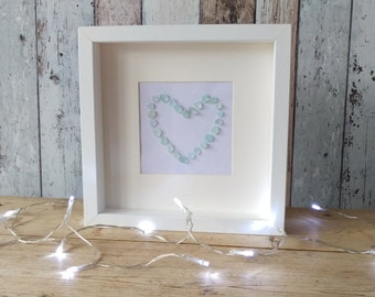 Sea Glass Heart Box Frame