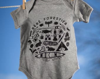 Bébé forestier - Baby onesie