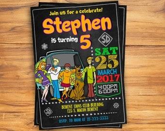 Scooby Doo Invitation, Scooby Doo Birthday, Scooby Doo Invite, Scooby Doo Party, Scooby Doo Printables