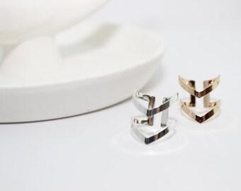 Double Chevron Ring // Chevron Ring // V Ring // Adjustable Ring // Double V Ring // Geometric Ring // Modern Knuckle Ring // MB-R002