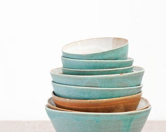 handcrafted ceramic bowls