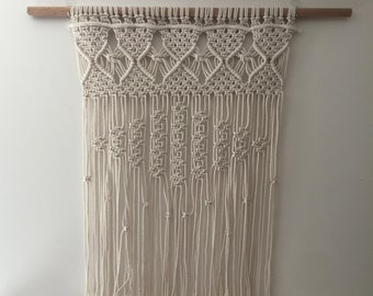 Large White Macrame Wallhanging