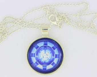 Ironman Arc Reactor Necklace or Keychain Tony Stark Comic Book and Movie Inspired