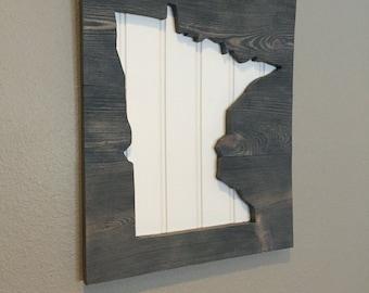 Minnesota Sign Wall Decor Gray