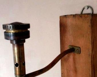 coat rack, candlestick industrial