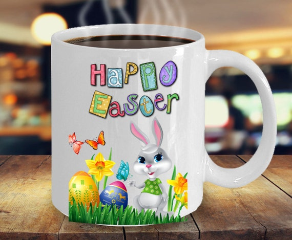 Easter Gift Idea Happy Easter Coffee Mug Easter Bunny Cups