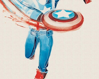 Marvel Captain America Art Print