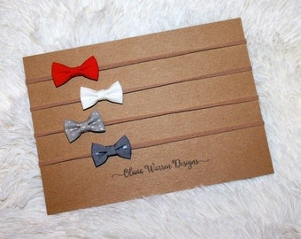 Micro mini bow headband set