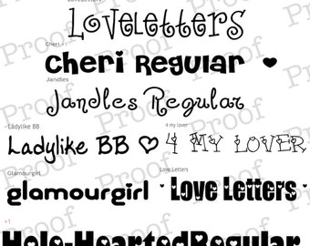 Valentine's Day Font Collection