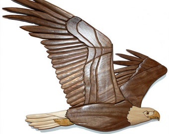 Intarsia Eagle Wall Art