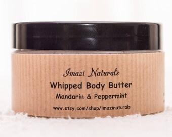 Organic Body Butter, Body Butter, Mandarin Peppermint Body Butter, Whipped Body Butter, Shea Body Butter, Natural Body Butter