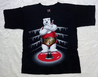 Vintage 90s Authentic RARE Coca Cola Bear Championship | Tag GiANT | Made in USA | 100%Cotton