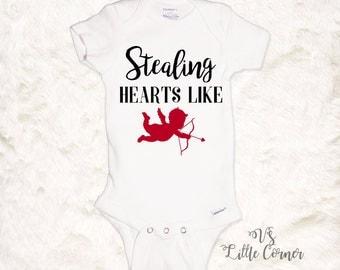 Boys valentine shirt - valentines day onesie or toddler shirt boy valentine shirt cupid shirt baby valentine shirt boys valentines day