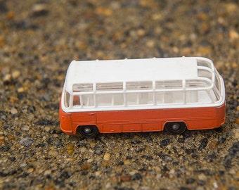 Matchbox Car No. 68, Mercedes Benz Coach 1965, Orange and White