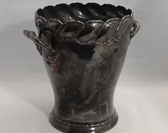 Ice Bucket by Wilcox, Quadruple Silverplate, Meriden, Conn, #793
