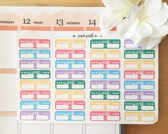 Work Planner Stickers/Labels, Erin Condren, Happy Planner
