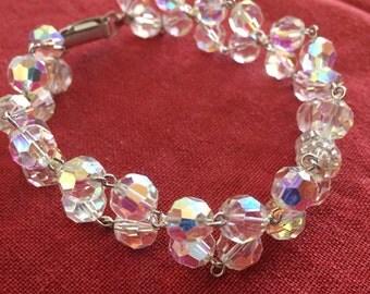 Vintage 60s crystal bracelet