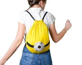 Minion backpack  | Minion bracelets blue and yellow