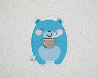 Green Tea Bear Sticker