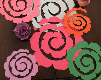 Spiral Rose cut outs
