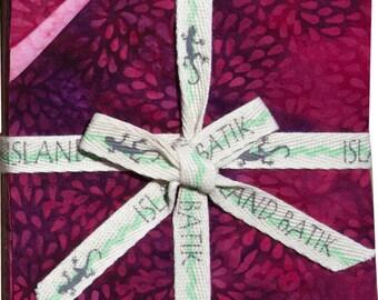 "Blushing Blooms Batiks Charm Pack by Island Batik - 42, 5"" x 5"" Precut Fabric Squares"
