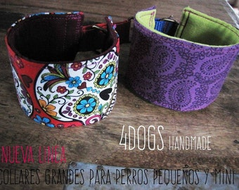 DOG COLLAR MARTINGALE for small dogs, made to measure.