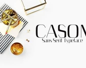 Cason Sans Serif Typeface