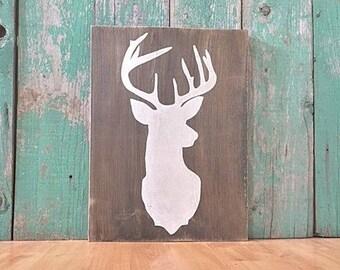 Deer Head - Woodland Nursery Decor - Woodland Nursery - Deer Antlers - Rustic Home Decor - Farmhouse Decor - Deer Head Wall Mount