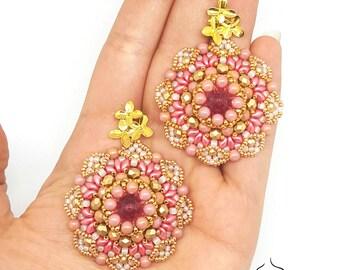 Earrings Sakura- beading pattern