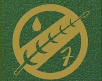 Star Wars Boba Fett mandalorian insignia vinyl sticker, decal for car, laptop, macbook, tablet, iphone, or bumper sticker