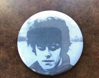 "Donovan Hurdy Gurdy Man Mellow Yellow Handmade Button Pin 2.25"""