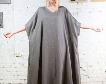 Linen kaftan,plus size linen dress,summer linen dress, long kaftan,linen kimono dress,long linen dress, black long dress, white linen/LD0022