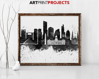 Buenos Aires art print, Poster, Travel, cityscape, Wall art, Argentina skyline, City print, Home Decor, Gift, Wall prints, ArtPrintProjects